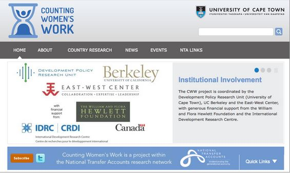 Counting Women's Work website screenshot